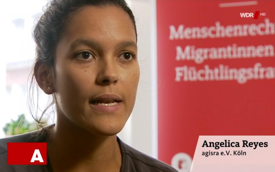 Unsere Mitarbeiterin Angélica Reyes im Interview bei WDR Aktuelle Stunde