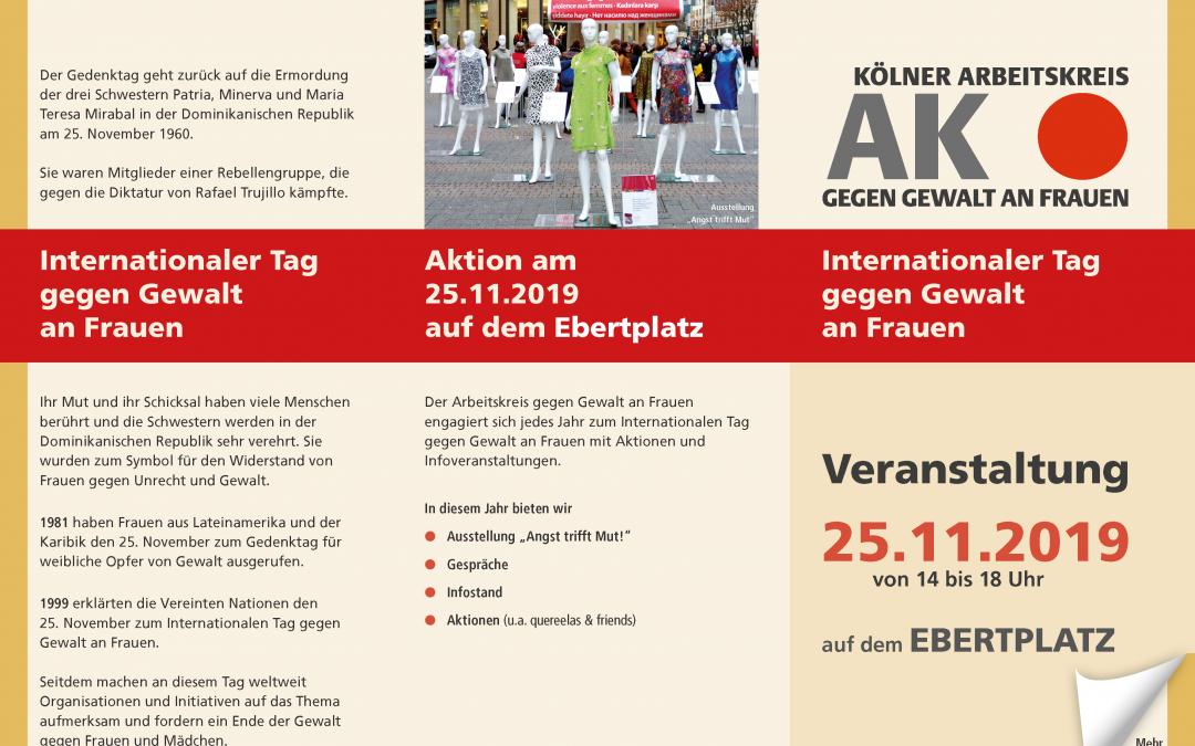 Aktionstag: Internationaler Tag gegen Gewalt an Frauen* und Mädchen* (25.11.19)