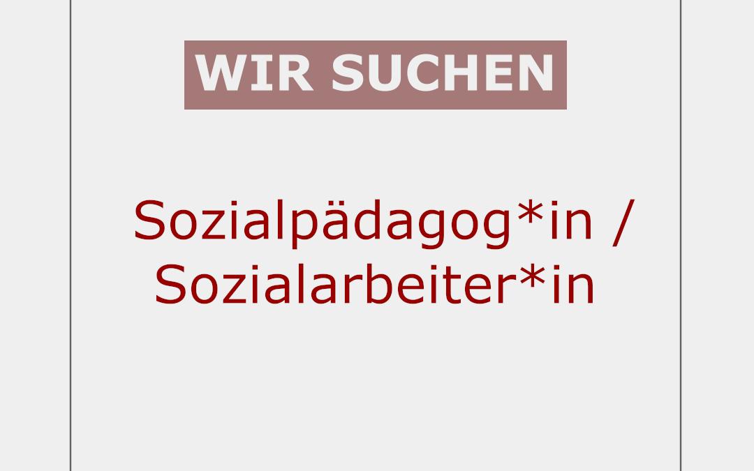 Sozialpädagog*in / Sozialarbeiter*in ab 1.5.2021 gesucht