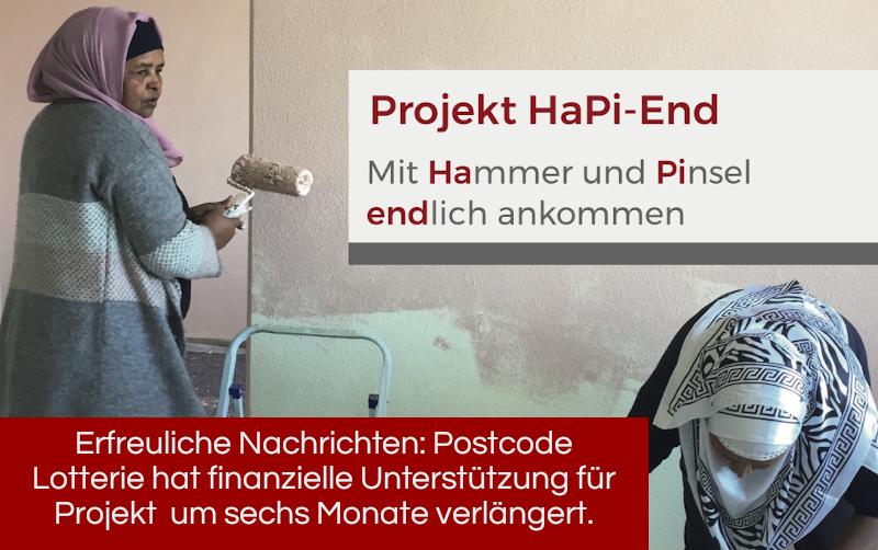 """Finanzielle Unterstützung für Projekt """"HaPi End – mit Hammer und Pinsel endlich ankommen"""" wurde verlängert"""