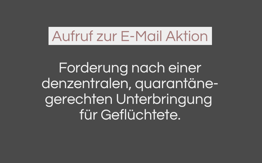 Aufruf zur E-Mail Aktion
