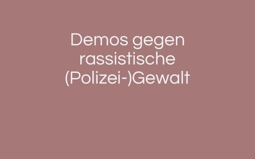 Deutschlandweit große Demos gegen Rassismus